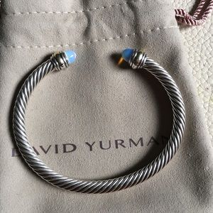 David Yurman Moonstone Cable Cuff Silver Gold